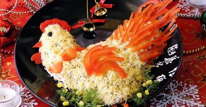 Украшение салатами стол фото